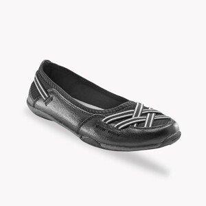 Blancheporte Pružné kožené baleríny, černé černá 37