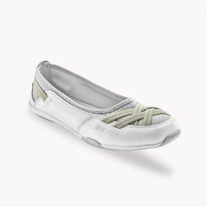 Blancheporte Pružné kožené baleríny, bílé bílá 41