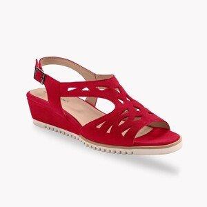 Blancheporte Ažurové sandály, kůže, červené červená 36