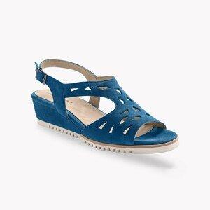 Blancheporte Ažurové sandály, kůže, námořnicky modré námořnická modrá 37