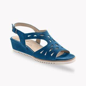 Blancheporte Ažurové sandály, kůže, námořnicky modré námořnická modrá 41