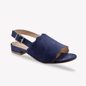 Blancheporte Sandály z kožené usně, námořnicky modré nám.modrá 40