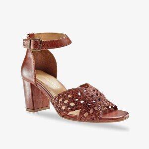 Blancheporte Páskové sandály na podpatku kaštanová 38