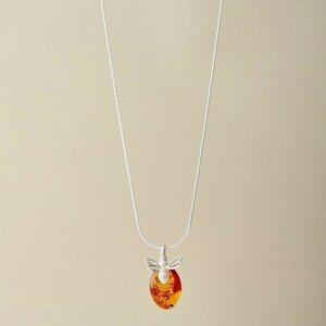 Blancheporte Řetízek s jantarovým přívěskem náhrdelník