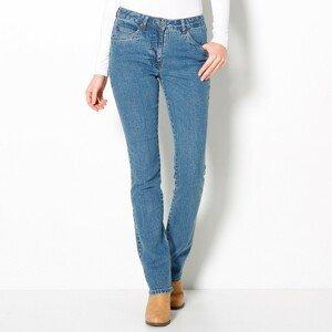 Blancheporte Rovné džíny, malá postava sepraná modrá 52