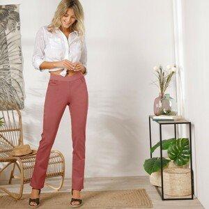Blancheporte Rovné kalhoty s pružným pasem terakota 54