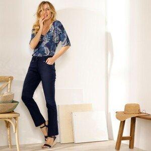 Blancheporte Rovné kalhoty s vysokým pasem, malá postava námořnická modrá 44