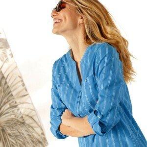 Blancheporte Pruhovaná tunika modrá/bílá 52