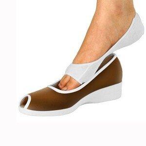 Blancheporte Ponožky do otevřených bot bílá pár
