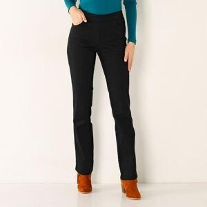 Blancheporte Rovné kalhoty s pružným pasem černá 42