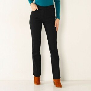 Blancheporte Rovné kalhoty s pružným pasem černá 48