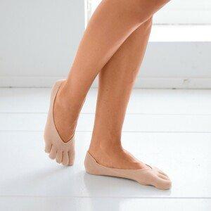 Blancheporte Prstové diskrétní ponožky tělová pár
