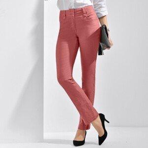 Blancheporte Rovné kalhoty s vysokým pasem, malá postava terakota 42
