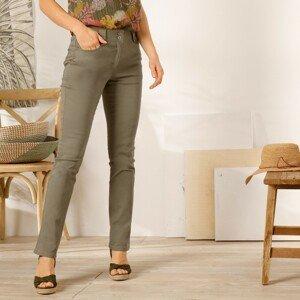 Blancheporte Rovné kalhoty s vysokým pasem, malá postava khaki 46