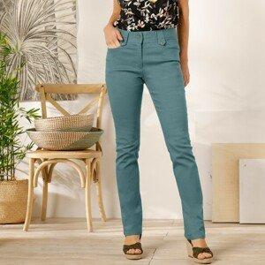 Blancheporte Rovné kalhoty s vysokým pasem, malá postava šedozelená 48
