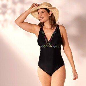 Blancheporte Jednodílné plavky Keros černá 50