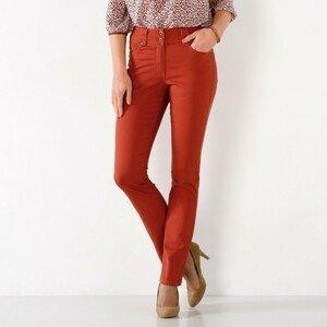Blancheporte Rovné kalhoty s vysokým pasem, malá postava paprika 38