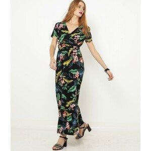CAMAIEU černé květované šaty - XL