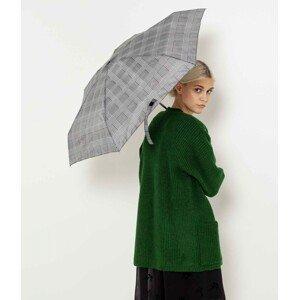 Šedý kostkovaný skládací deštník CAMAIEU