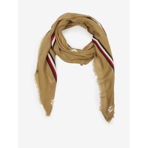 Světle hnědý dámský šátek Tommy Hilfiger Feminine Square