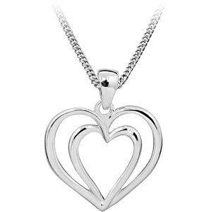 Art Diamond Stříbrný náhrdelník s diamantem DAGS812/50 (řetízek, přívěsek)