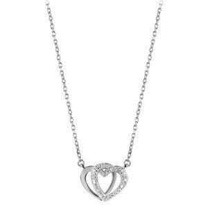 Beneto Stříbrný náhrdelník se srdíčkem AGS779/48