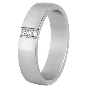 Beneto Dámský prsten z oceli s krystaly SPD01 56 mm