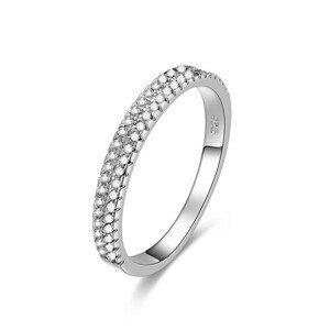 Beneto Stříbrný prsten se zirkony AGG337 60 mm