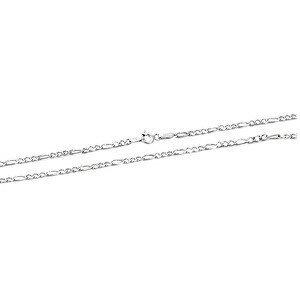 Beneto Moderní stříbrný řetízek Figaro AGS1127 50 cm