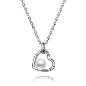 Beneto Stříbrný náhrdelník s říční perlou AGS1230/47P