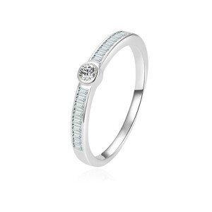 Beneto Nadčasový stříbrný prsten se zirkony AGG303L 60 mm