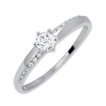 Brilio Zlatý zásnubní prsten s krystaly 229 001 00762 07 52 mm