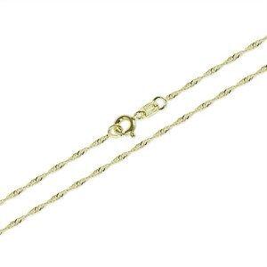Brilio Řetízek Lambáda ze žlutého zlata 745 271 115 0018 55 cm