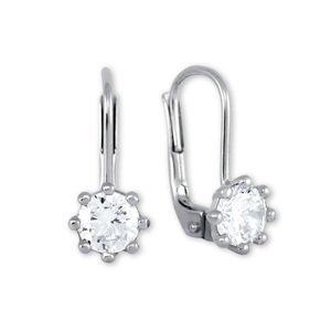 Brilio Silver Stříbrné náušnice s krystaly 436 001 00235 04