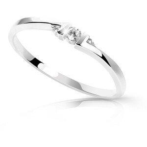 Cutie Diamonds Minimalistický prsten z bílého zlata s brilianty DZ6714-3053-00-X-2 57 mm