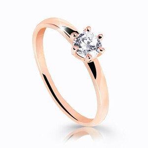Cutie Jewellery Úchvatný třpytivý prsten z růžového zlata Z6485-10-X-4 64 mm