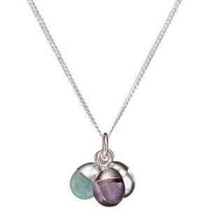 Decadorn Stříbrný náhrdelník s polodrahokamy - uzdravení, uklidnění a důvěra (řetízek, přívěsek)