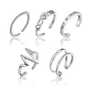 Emily Westwood Sada jemných ocelových prstenů WS045S