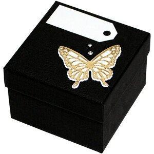 Giftisimo Luxusní dárková krabička se zlatým motýlkem GF0006