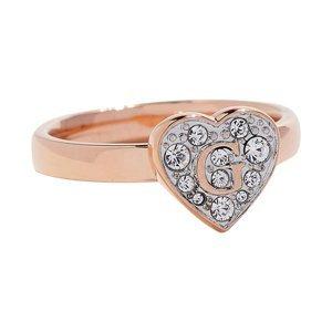 Guess Romantický prsten s třpytivým srdcem UBR79030 54 mm