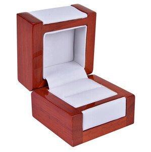 JK Box Světlá dřevěná krabička na prsten DN-2/A1
