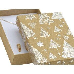 JK Box Vánoční dárková papírová krabička KX-8/AG