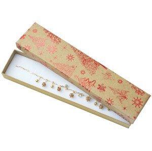 JK Box Vánoční dárková papírová krabička KX-9/A7