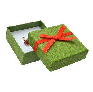 JK Box Zelená dárková papírová krabička MX-4/A19/A7