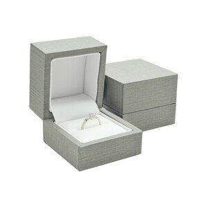 JK Box Šedá dárková krabička na prsten ER-2/A3
