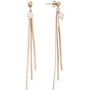 JwL Luxury Pearls Luxusní řetízkové náušnice s pravými perlami JL0487CH