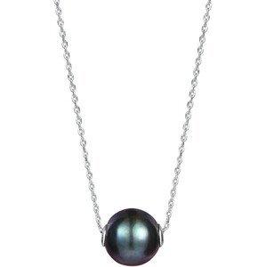 JwL Luxury Pearls Dámský náhrdelník s pravou černou perlou JL0582 (řetízek, přívěsek)