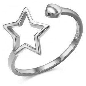 JVD Krásný otevřený stříbrný prsten SVLR0256XH2BI 56 mm