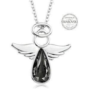 Levien Náhrdelník s tmavým krystalem Angel Rafael LE0142