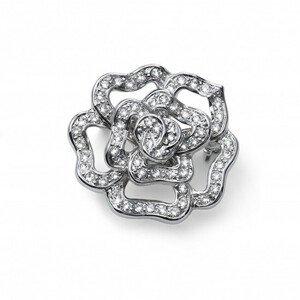 Oliver Weber Třpytivá květinová brož s čirými krystaly Fiorellino 58048